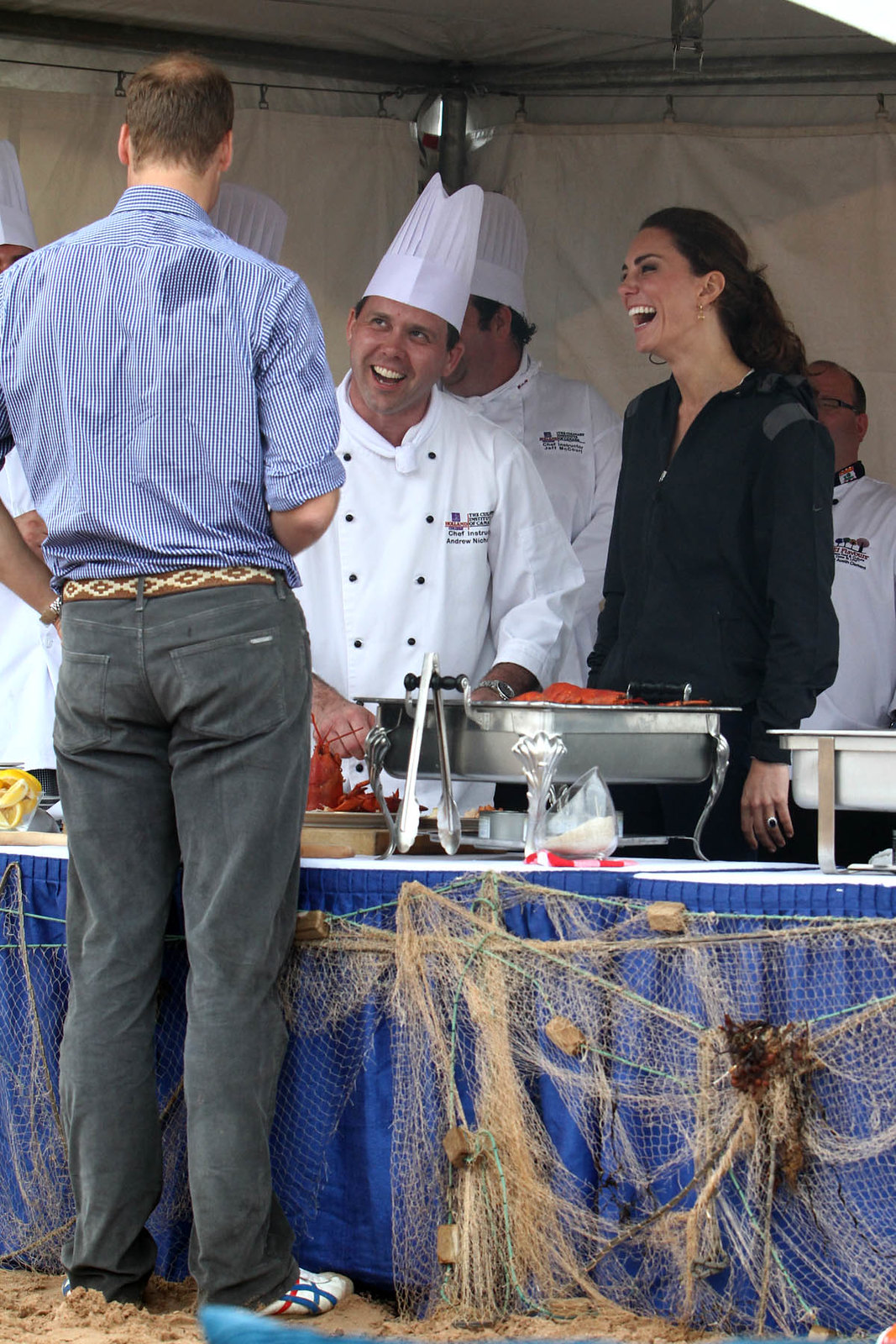 William and Catherine tried many traditional dishes in PEI