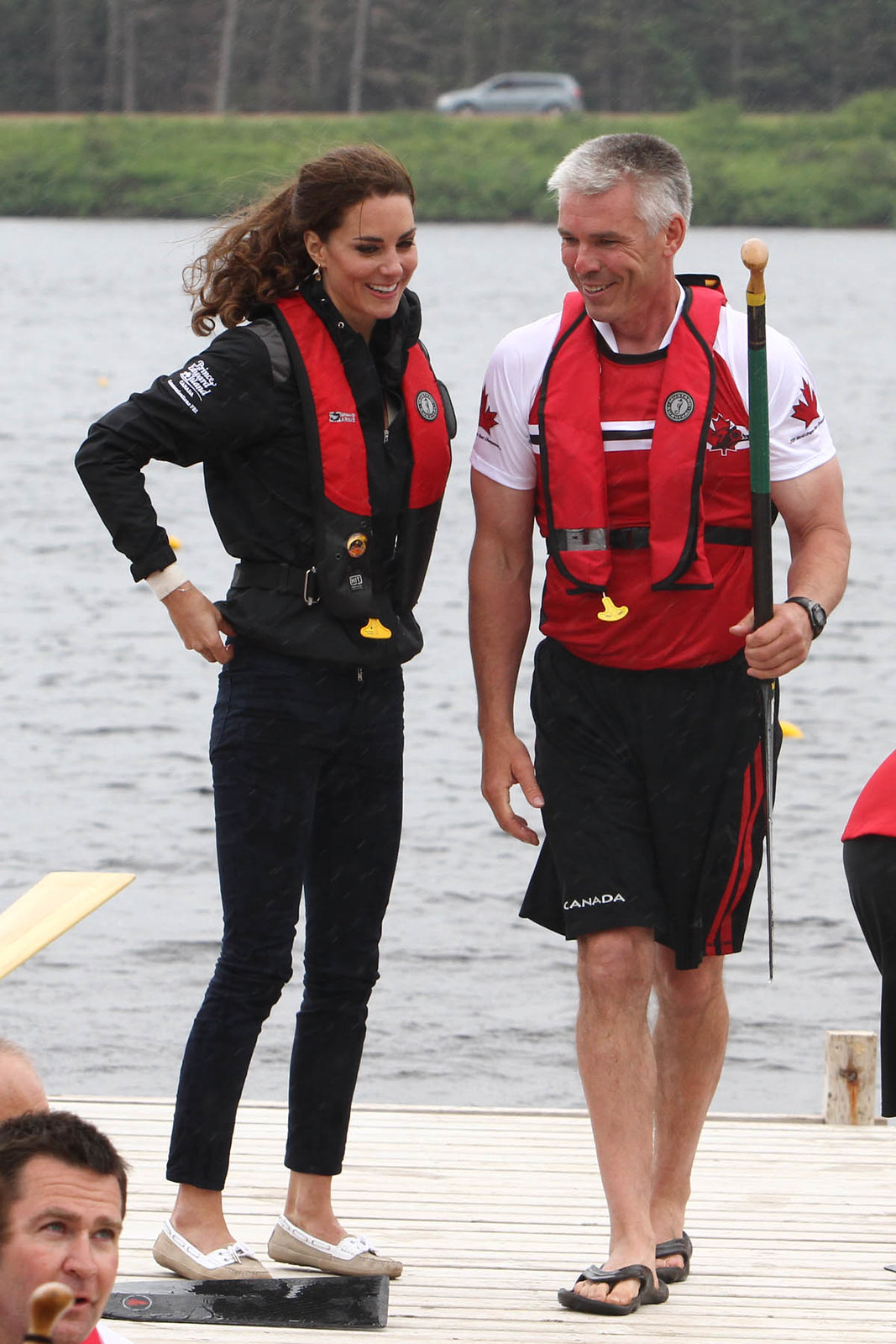 the Duchess of Cambridge during the dragon boat race