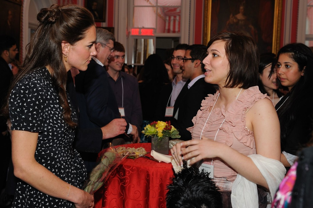 The Duchess of Cambridge in Isa Dress for Youth Reception during the Canada tour in 2011