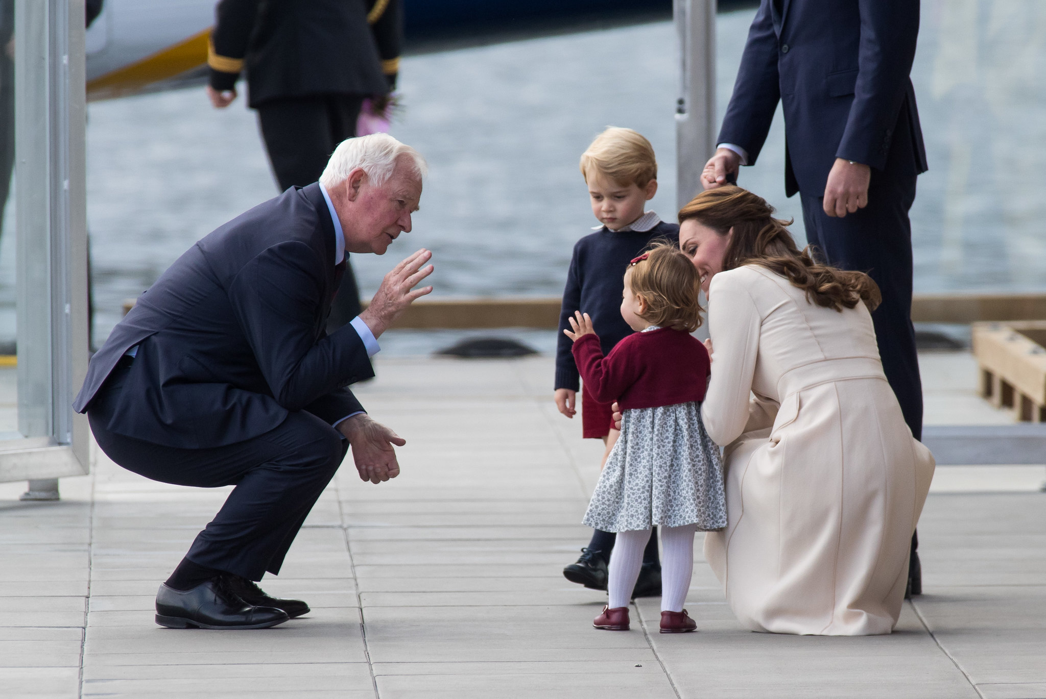 Governor-General of Canada bidding farewell to the family