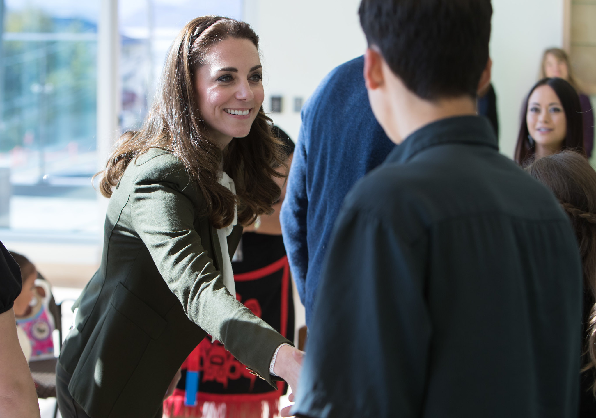The Duke and Duchess of Cambridge at hte hospital in Queen charlotte in canada