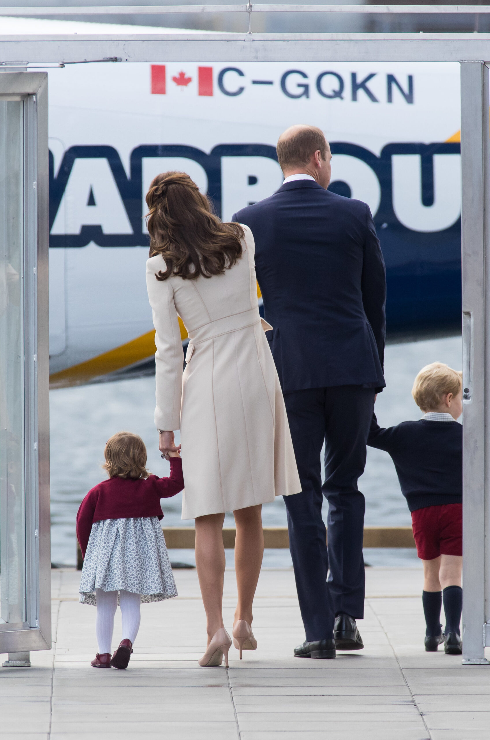 The Duke and Duchess of Cambridge leaving Canada after tour in 2016