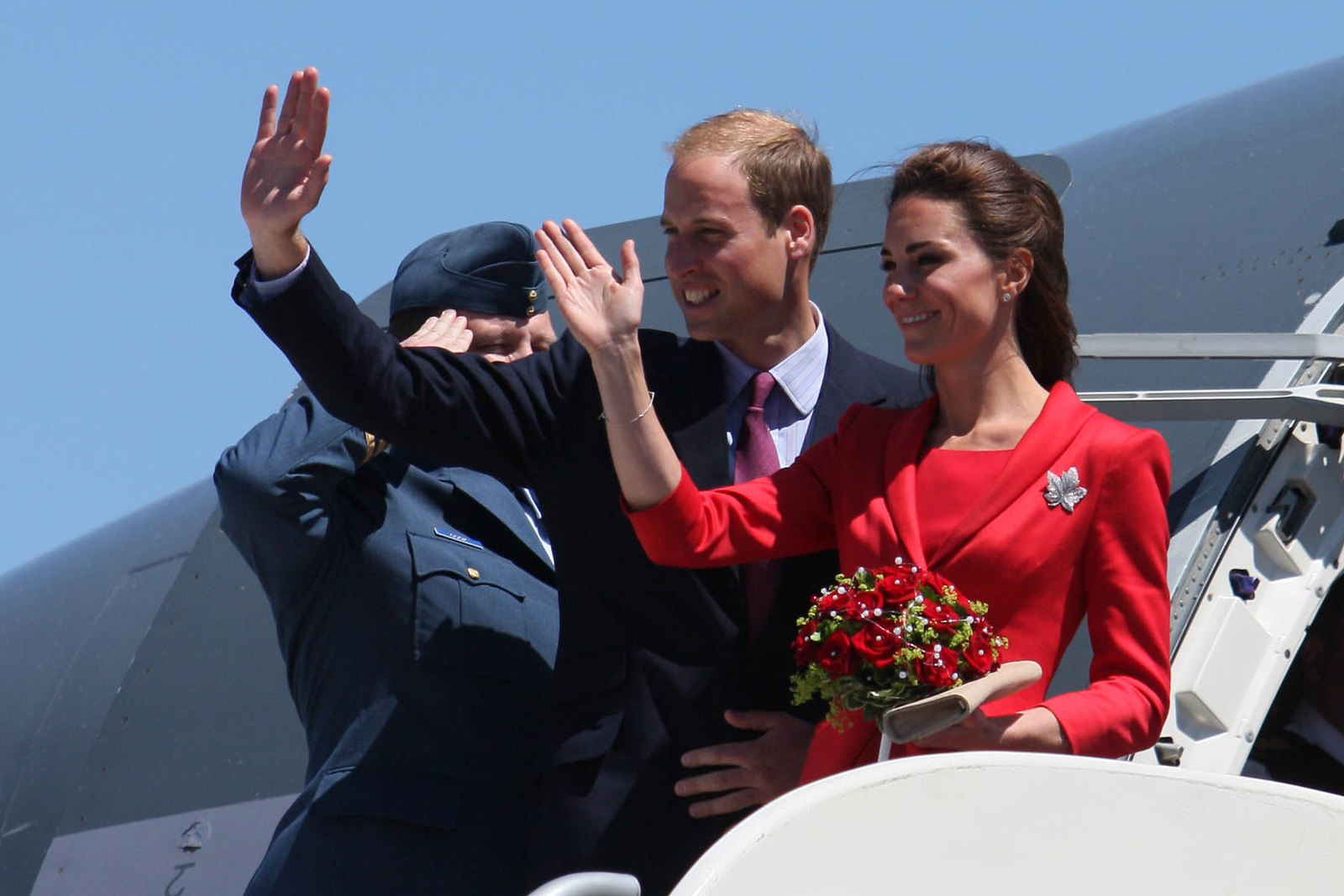 The Duke and Duchess of Cambridge leaving Canada in 2011