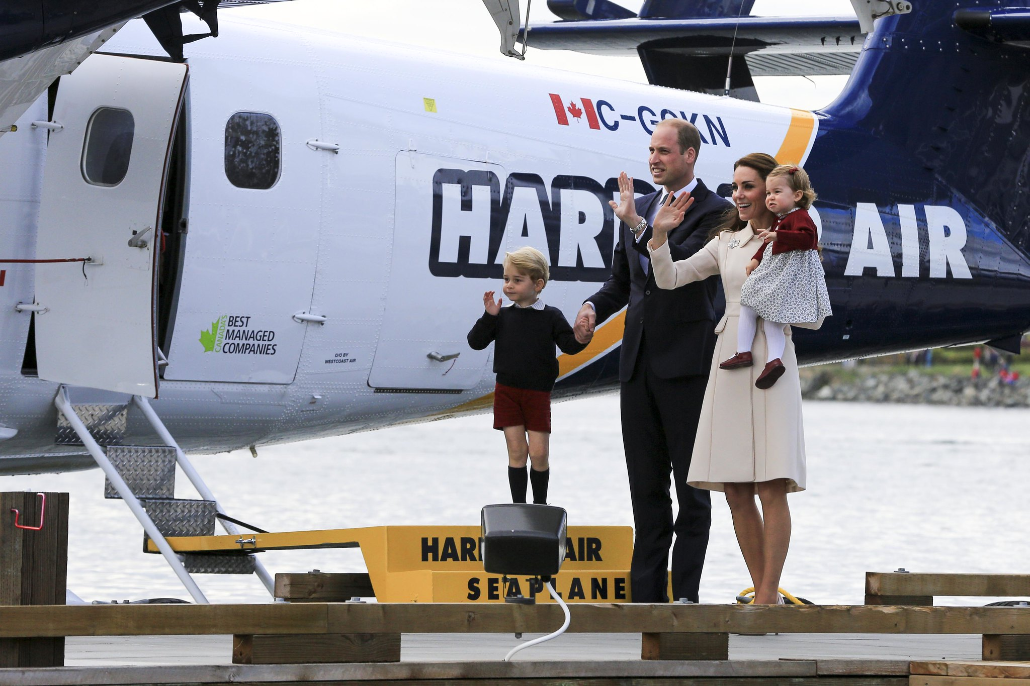 The Duke and Duchess of Cambridge on the last day of Canada tour