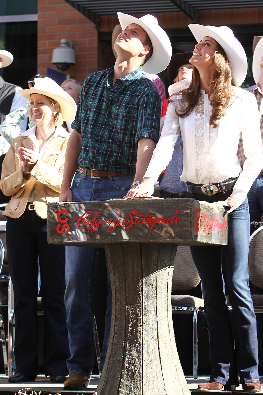 The Duke and Duchess of Cambridge started the Calgary Stampede Parade