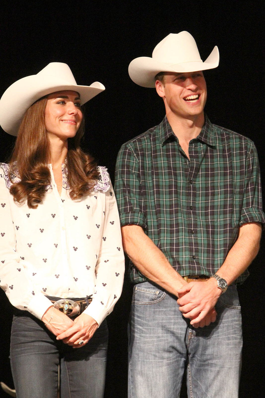 The Duke and Duchess of Cambrige at Calgary Stampede Parade