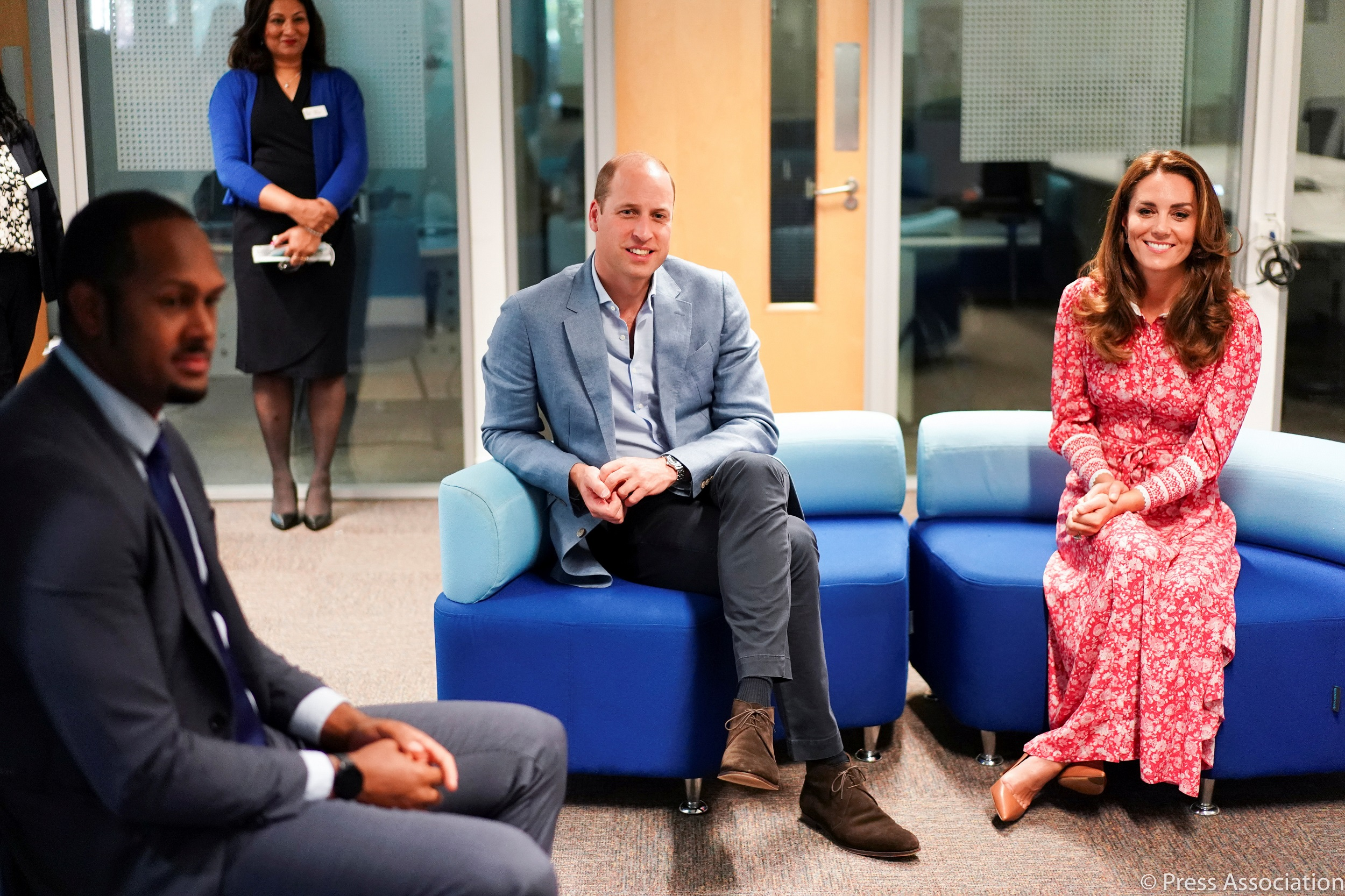 The Duke and Duchess of Cambridge at London Bridge Job Centre after COVID-19