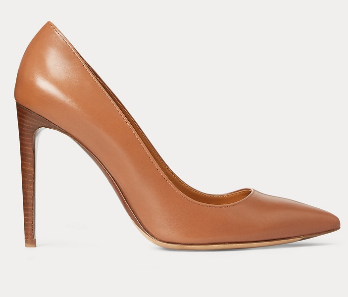 The Duchess of Cambridge wore Ralph Lauren Celia Calfskin Pumps in September 2020 to visit London Communities after COVID-19
