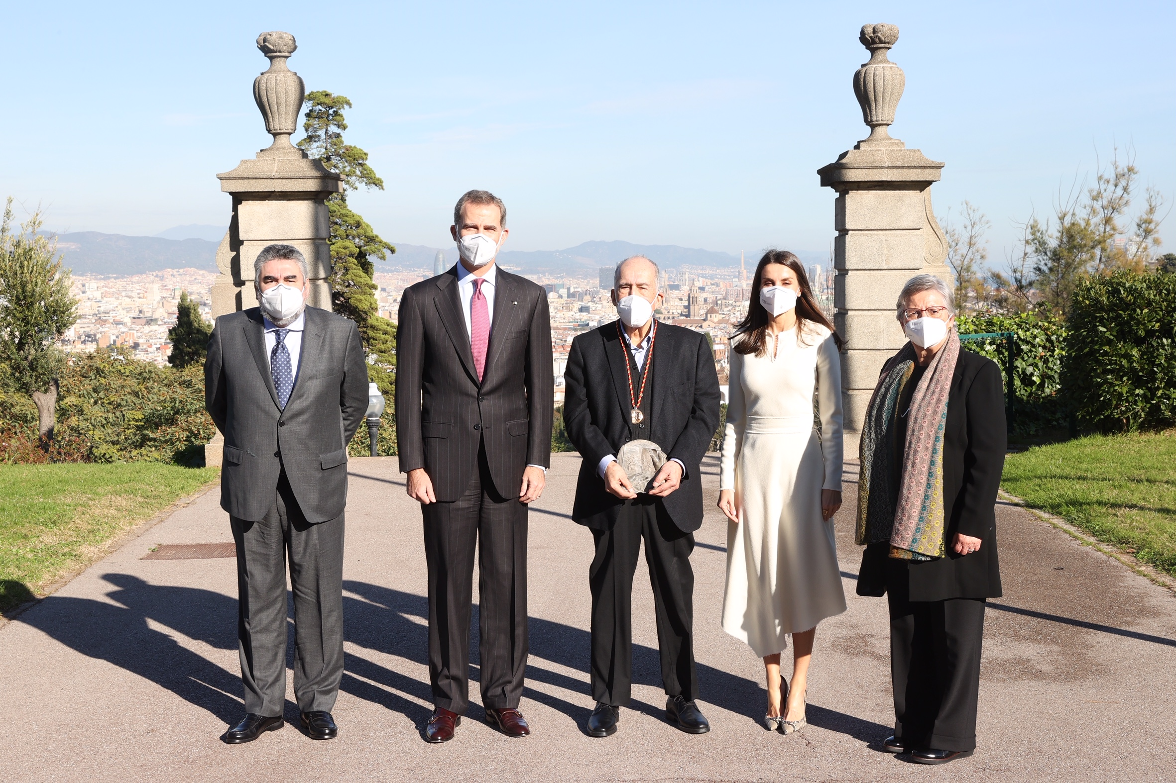 King Felipe and Queen Letizia of Spain in Barcelona for Literature Award
